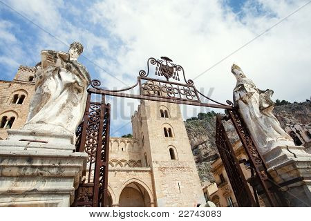 gateway to Cathedral-Basilica of Cefalu