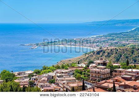 Town Taormina And Resort Gardini Naxos On Ionian Coast
