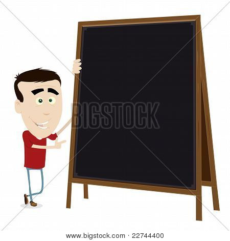 Cool Cartoon Young Teacher
