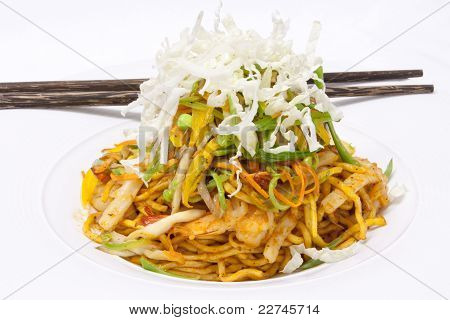 Yellow Noodle Fried With Seafood