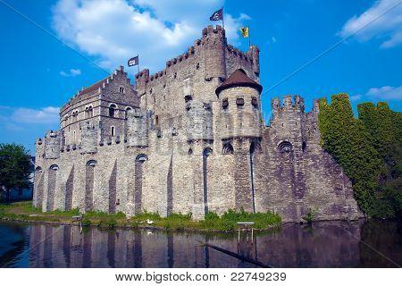 The Gravensteen medieval castle, Ghent, Belgium