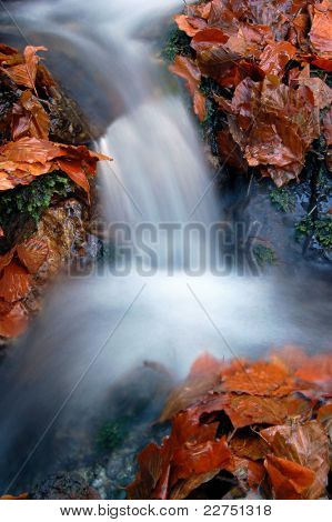 autumn waterfall in bohemia