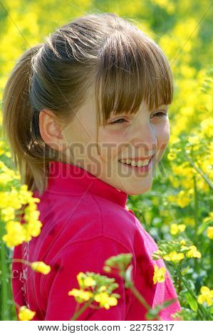 spring portrait girl