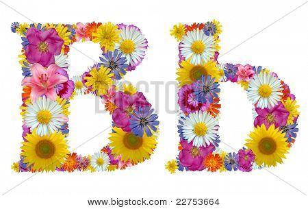 alphabet of flowers