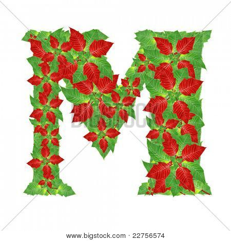 Christmas Alphabet from  poinsettia