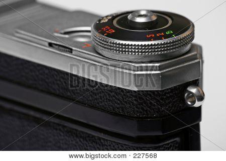 Viejo telémetro cámara Soviética close-up