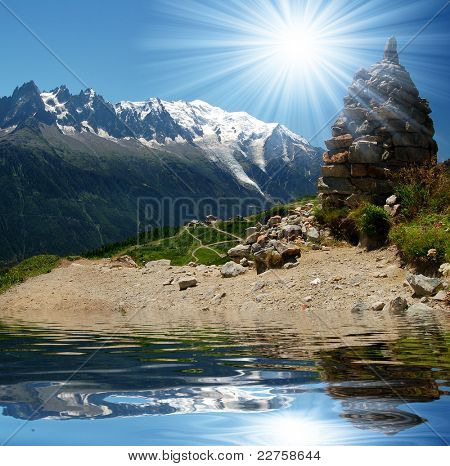 lake in the Savoy Alps