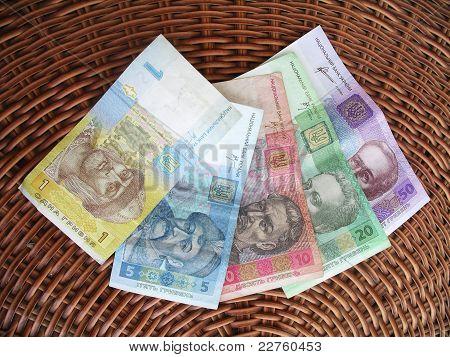 Ukrainian money, hryvna.