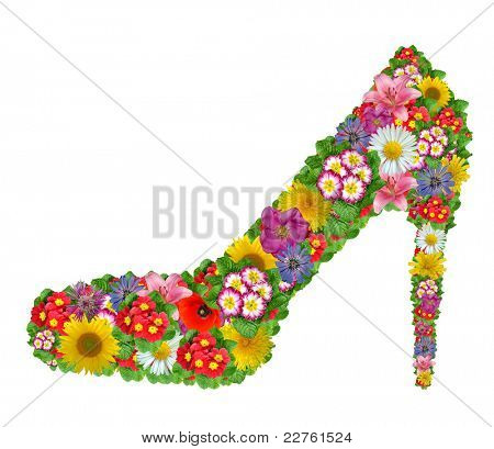 Shoes from the flowers