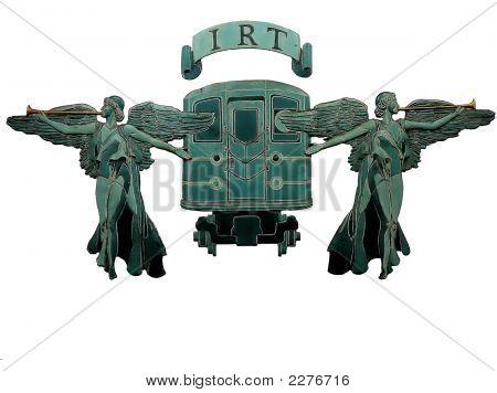 Angel Sculptures In New York City Subway