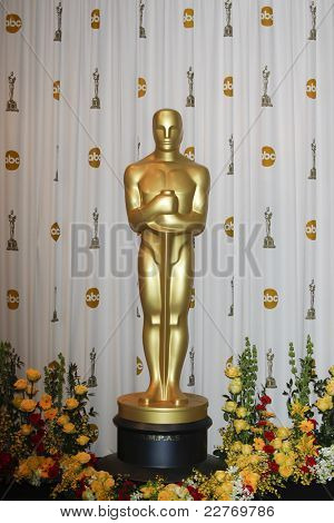 LOS ANGELES - MAR 7: Oscar statue in the press room at the Oscars held at the Kodak Theater in Los Angeles, California on March 7, 2010