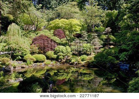 Japanese Garden in Portland Oregon