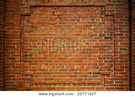 Old Brick Wall With Interesting Framing