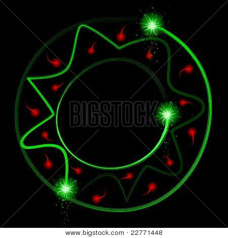 Light streak wreath