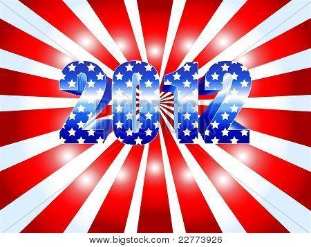 2012 Presidential Election Sunburst