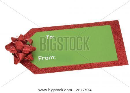 Blank Christmas Gift Tag
