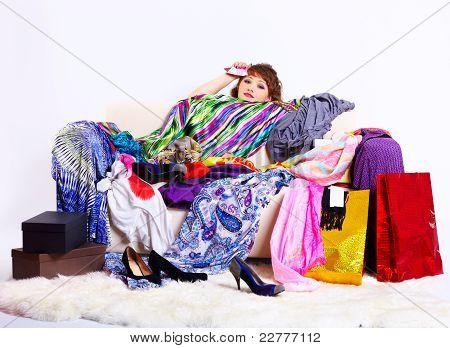 Shopaholic Woman