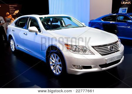 Moscow, Russia - August 25: White  Car Lexus Ls 460 L Awd At Moscow International Exhibition Interau