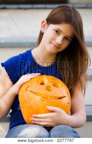 Preteen Pumpkin Carver