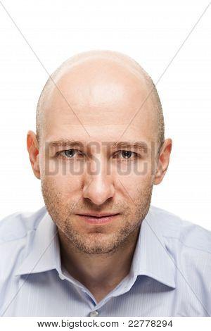 Serious Man Portrait