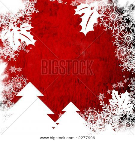 Christmas Abstract Background Frame