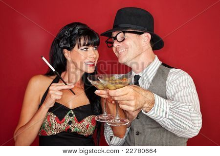 Couple Enjoying A Drink