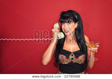 Excited Woman On Phone Call