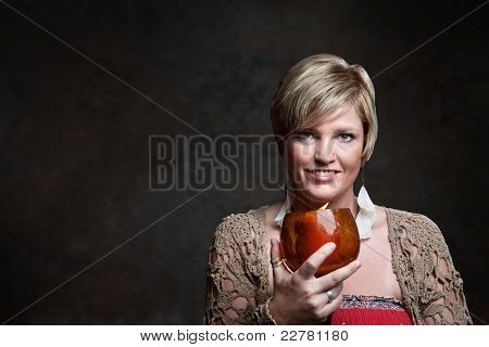 Smiling Woman With Candle
