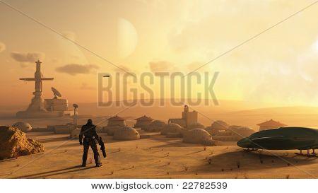 Aldea del desierto ciencia ficción