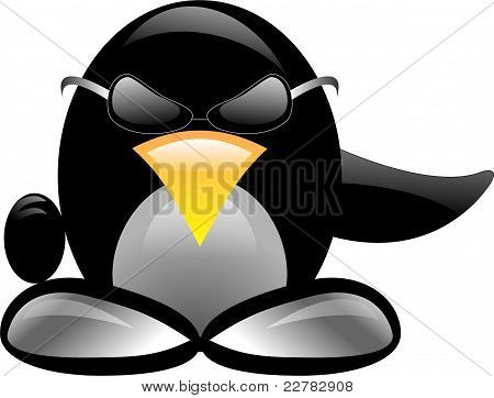 Penguin Isolated Over White Background