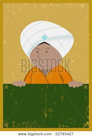 Grunge India Chef Cook Poster