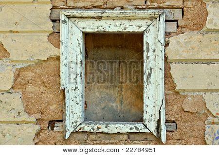 Empty Window Frame Grunge Background Texture