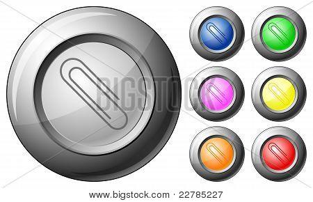 Sphere Button Paper Clip
