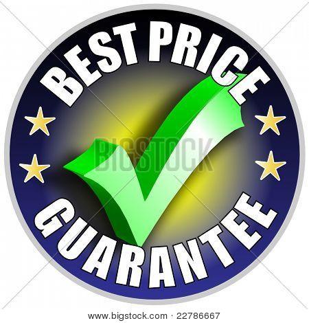 Best Price button/label - blue version