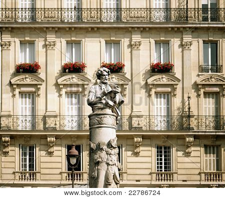 France - Paris - Place Saint-georges - staue of Paul Gavarni
