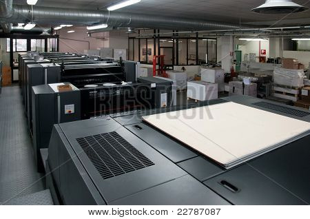 Press printing - Offset machine