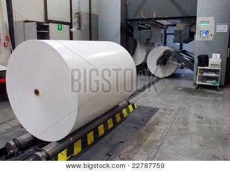 Planta de impressão: Imprensa deslocada de Web (rolos)