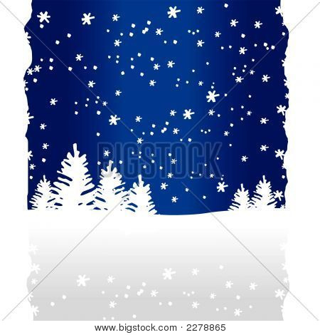 Winter Trees Background (Vector Or Xxl Jpeg Image)