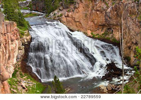 Gibbon Falls In Yellowstone
