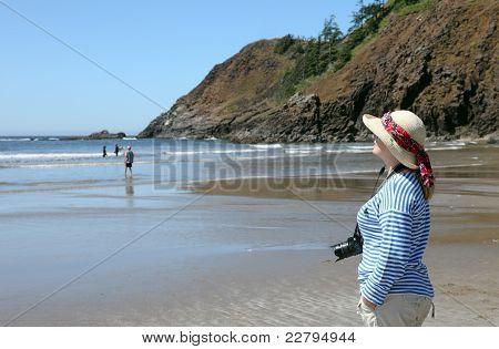 Indian beach on Ecola state park Oregon coast.