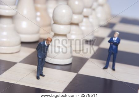 Business Figurines And Chess
