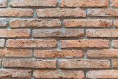 Old Brown  Brick Wall Texture.old Wall Of Red Bricks. Red Brick Wall. Wallpaper Of Ordinary Building poster