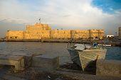 Постер, плакат: Египет Александрия Вид на Форт Qaitbey