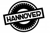 Hannover Typographic Stamp. Typographic Sign, Badge Or Logo poster
