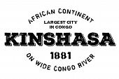 Kinshasa Typographic Stamp. Typographic Sign, Badge Or Logo poster