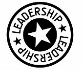 Leadership Typographic Stamp. Typographic Sign, Badge Or Logo poster