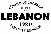 Lebanon Typographic Stamp. Typographic Sign, Badge Or Logo poster