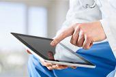 Doctor Working Pc Work Tablet Tablet Pc Digital Tablet poster