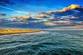 Scenic Sunset In Newport Beach, Orange County. California, Usa poster