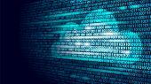 Cloud Computing Online Storage Binary Code Numbers. Big Data Information Future Modern Internet Busi poster